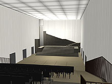 3D rendering of the Great Hall, Hellerau